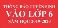 Thông báo tuyển sinh 2019-2020